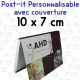 Post-it personnalisé avec couverture 10x7 rectangle