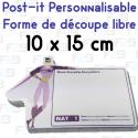 Post-it avec découpe spéciale 100x150mm