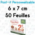 Post-it Personnalisé 6x7 cm 50 feuilles Marque Fabrik2blocs