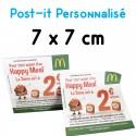 Post-it personnalisé 75x75mm