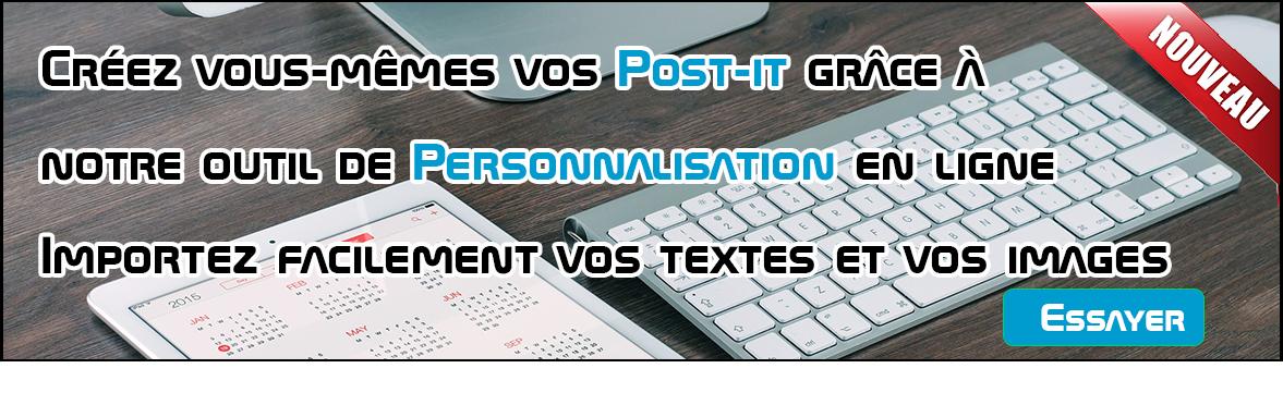Création en ligne de post-it personnalisés
