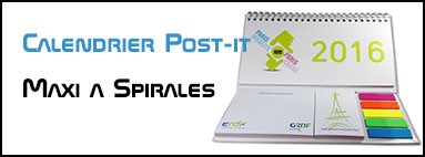 Calendrier de bureau Post it Maxi à Spirales